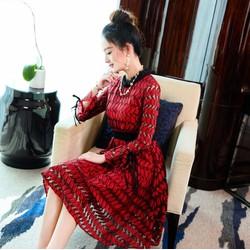 Đầm ren tay lỡ  thời trang nữ cao cấp 2017 nhập Hong Kong - T6509