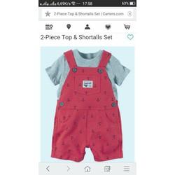 Set yếm kèm áo cho bé từ sơ sinh đến 2 tuổi