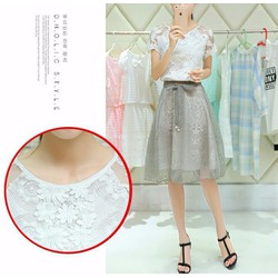 Set váy + áo ren cao cấp - LV1422