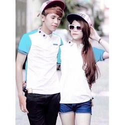 áo thun couple phối màu phong cách