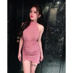 Đầm body yếm nhún _MỎ CHU SHOP