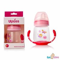 Ly tập uống UPASS 2 tay cầm với đầu hút silicone - UP0146ND - Đỏ