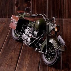 Mô hình moto kim loại xanh