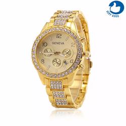 Đồng hồ nữ dây thép đính đá geneva 2017