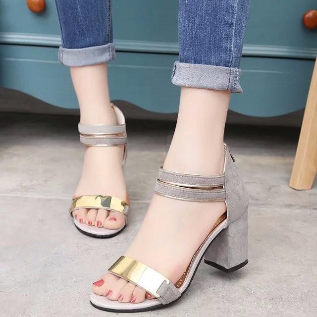 Giày Sandal nữ cao gót phong cách Hàn Quốc 6