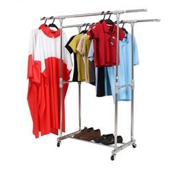 Giàn phơi quần áo inox đôi lắp ráp CB 1.55x1.4m