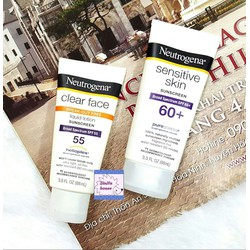 Kem chống nắng Neutrogena Sensitive Skin Spf60+