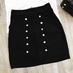 Set váy nút áo sơmi phối lưới _MỎ CHU SHOP