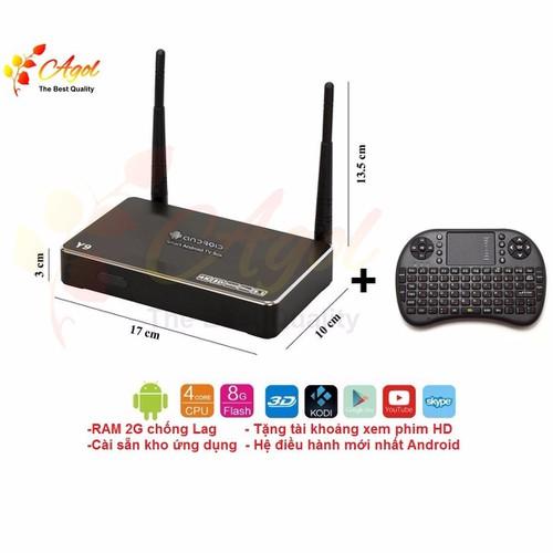 Android box RAM 2G hệ điều hành mới và Bàn Phím Kiêm Chuột Wireless