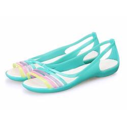 Giày Crocs isabella huarache flat cho nữ màu xanh ngọc