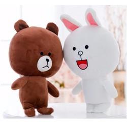 Thỏ Bông Cony và Gấu Brown 25 cm