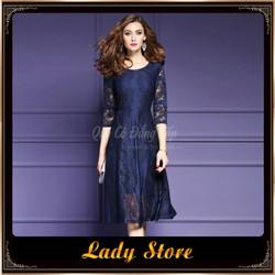 Đầm nữ LADY STORE sang trọng đẳng cấp LD108 xanh