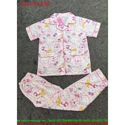 Đồ bộ nữ mặc nhà hình hello kitty hồng dễ thương NN490