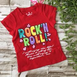 Áo thun tay ngắn in chữ rock roll - ag129[10-25kg]