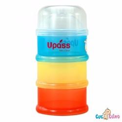 HỘP ĐỰNG SỮA BỘT 3 NGĂN UPASS KHÔNG BPA - UP8001C
