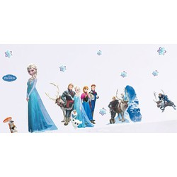 Decal dán công chúa Elsa và Anna cho bé gái