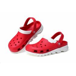 Dép sục Crocs duet max clog màu đỏ