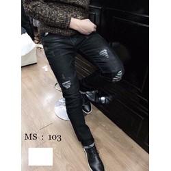 Quần jean màu đen nam