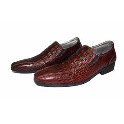 Giày tây da bò thật vân cá sấu .BH 12 tháng.MS:T148
