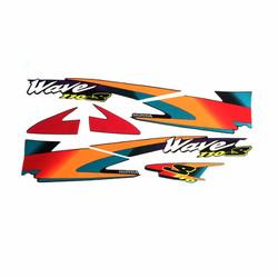 Bộ decal xe Wave 110S 3 lớp chất lượng cao nhãn hiệu GTP màu cam