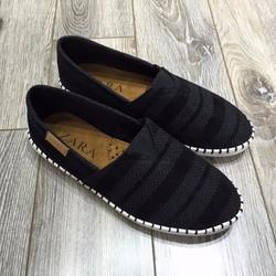 Giày lười vải toms men black 2017