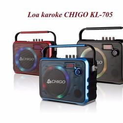 Loa bluetooth karaoke 705 - tặng kèm mic không dây
