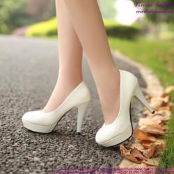 Giày cao gót bít mũi da bóng đi tiệc đi chơi sành điệu GCG139