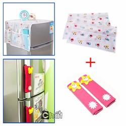 Combo 2 Tay Nắm Tủ Lạnh Và Tấm Phủ Tủ Lạnh