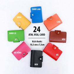 Ví bóp cầm tay chứa 24 thẻ Atm, Visa, Card - Mã CARD01