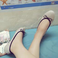 Giày nơ chuồn VNXK êm đệm thoải mái chân