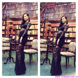 Váy maxi xếp ly vai đính hạt đáng iu sành điệu tDD857