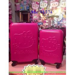 Va li kéo du lịch hello kitty màu hồng dễ thương VL174