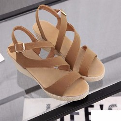 Giày Sandal đế xuồng quai xoắn - LN1078