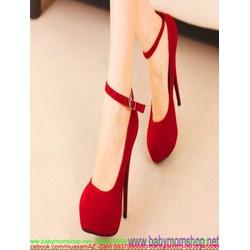 Giày cao gót nữ bít mũi tròn kiểu quai hậu sang trọng GCN252