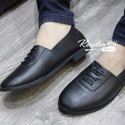 Giày lười hàn quốc da bò thật, hàng đẹp, chất lượng cao