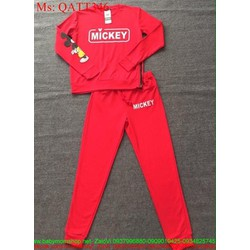 Sét thể thao nữ dài hình mickey dễ thương QATT346