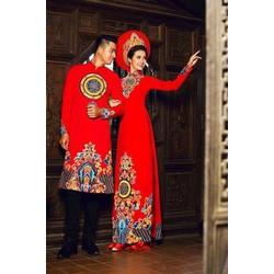 Cặp áo dài cưới song hỷ