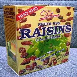 2 Hộp Nho khô không hạt Raisin Mỹ 250g