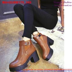 Giày boot nữ khóa gài phong cách sành điệu GUBB170