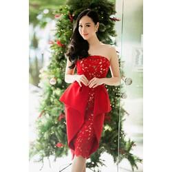 Đầm dự tiệc peplum thiết kế phong cách mới lạ body tôn dáng tuyệt đẹp