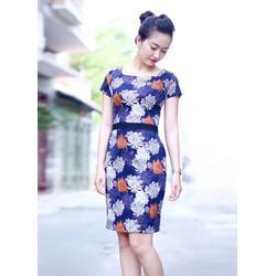 Đầm công sở cao cấp hoa cúc
