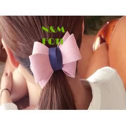 cột tóc kiểu Hàn