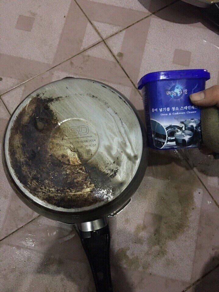 Combo Kem tẩy rửa đa năng Hàn Quốc kèm mút cọ xoong nồi 3