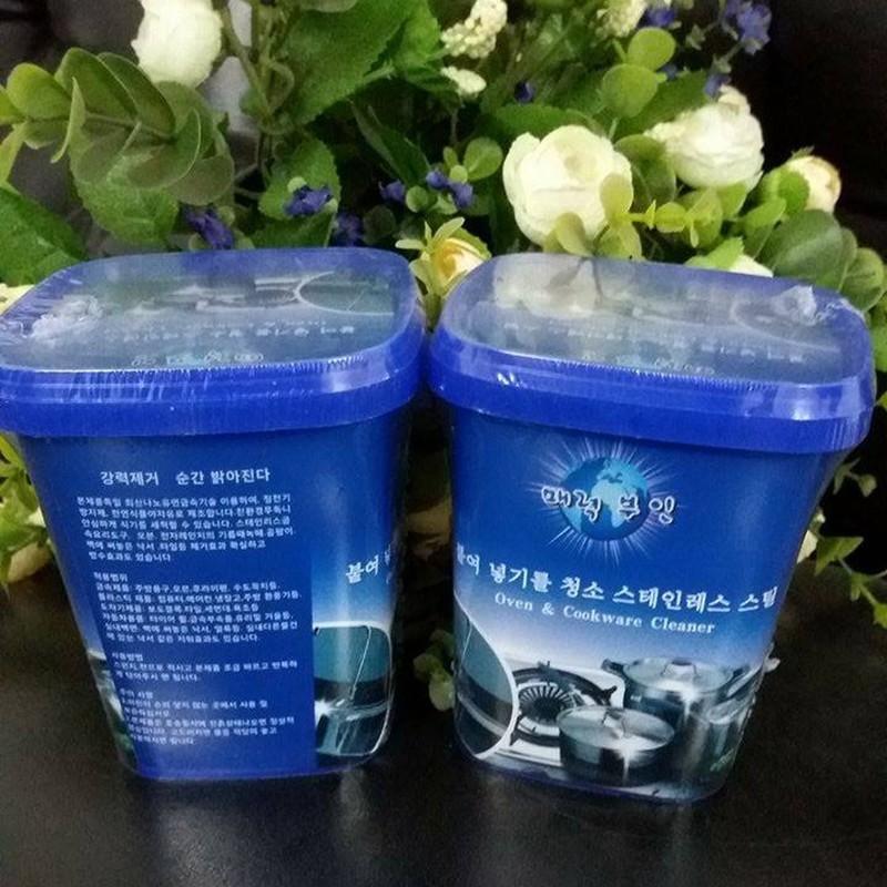 Combo Kem tẩy rửa đa năng Hàn Quốc kèm mút cọ xoong nồi 1