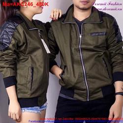 Áo khoác dù hai màu đen nâu và đen đỏ sành điệu AKC24