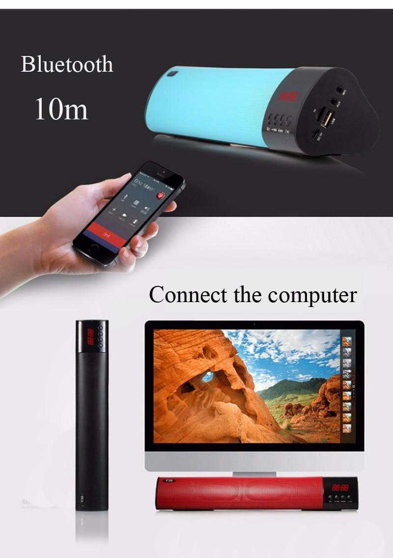 Loa Bluetooth công suất 10w, Stereo 3D Âm Thanh vòm Soundbar 5