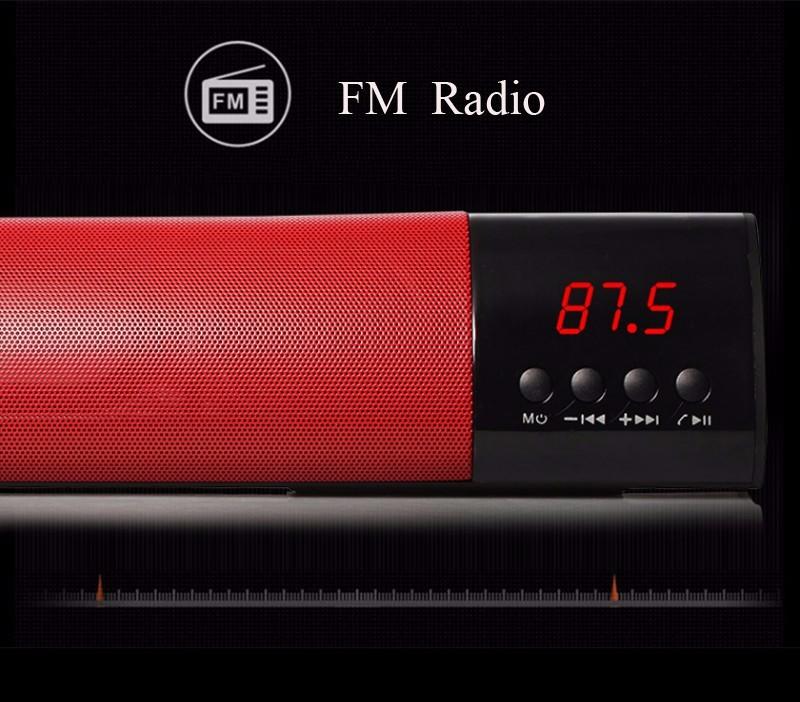 Loa Bluetooth công suất 10w, Stereo 3D Âm Thanh vòm Soundbar 3