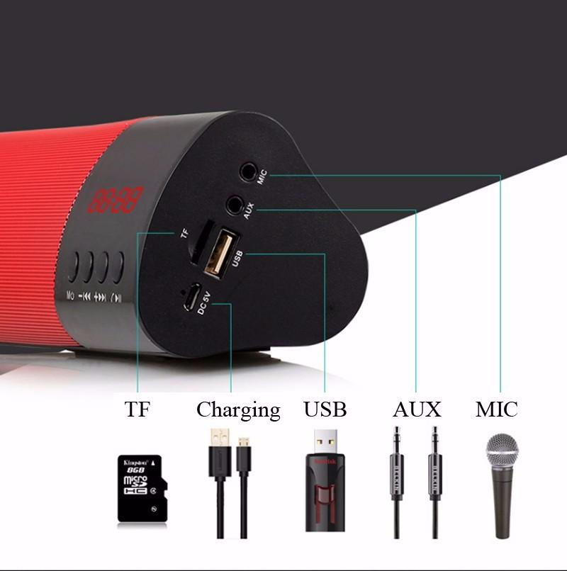 Loa Bluetooth công suất 10w, Stereo 3D Âm Thanh vòm Soundbar 7