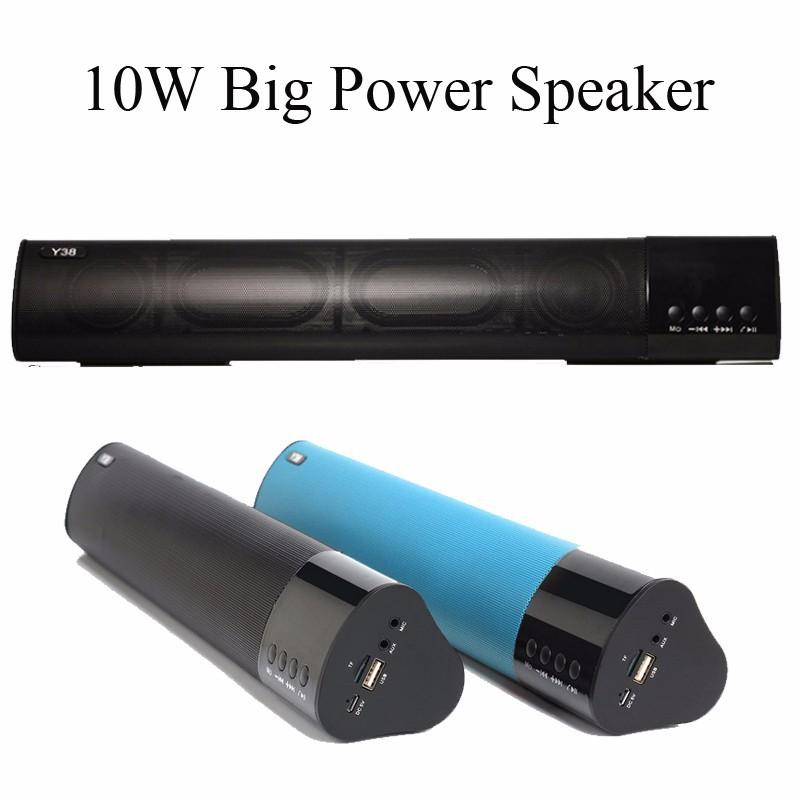 Loa Bluetooth công suất 10w, Stereo 3D Âm Thanh vòm Soundbar 1