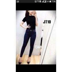 quần jeans nữ lưng cao 1 nút cá tính